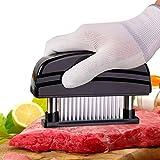 ViewHuge - Tienda de campaña para Carne (48 Cuchillas de Acero Inoxidable Ultra afiladas, para Carne de Pollo, Pescado, Carne de Cerdo, Herramienta de Cocina)