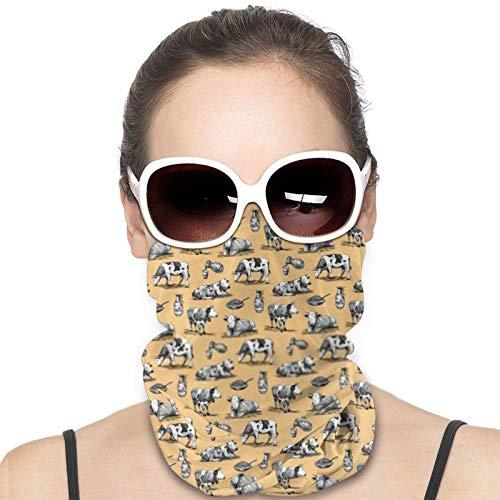 Pañuelo Facial Reutilizable de Vacas Alpinas para Mujeres y Hombres, pasamontañas de Invierno cálido, máscara de esquí a Prueba de Viento, Bandana a Prueba de Polvo