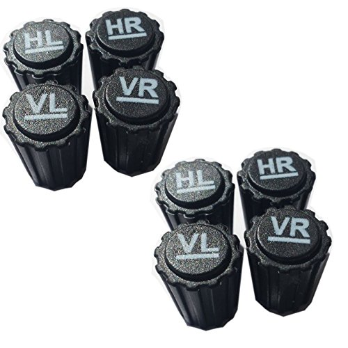 timtina® Radmerkerset 8- teilig Ventilkappen Reifenmarkierung (8)