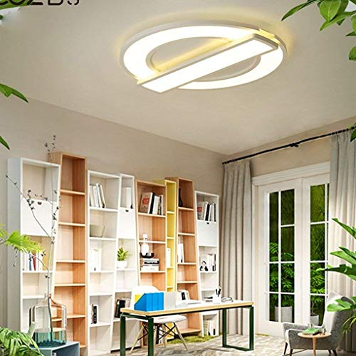 Durable 38W LED Ceiling Light Creative Personality Living Room Dining Room Bedroom Study Decorative Ceiling Lamp Modern Minimalism Round White Acrylic Iron Metal Interior Lighting Ø40cm Dimming 3