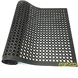 "smabee Anti-Fatigue Non-Slip Rubber Floor Mat Heavy Duty Mats 36""x60"" for Outdoor Restaurant Kitchen Bar"