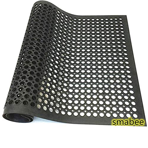 "smabee Anti-Fatigue Non-Slip Rubber Floor Mat Heavy Duty Mats 36""x60"" for Indoor Restaurant Kitchen Bar Bathroom"