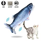 Amakunft Electric Fish Cat Toy, Indoor Interactive Dancing Fish for Kitty, Catnip Toys