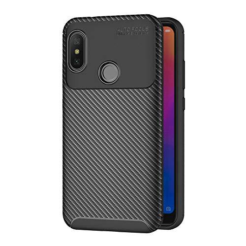 AICEK Funda Xiaomi Mi A2 Lite, Negro Silicona Fundas para