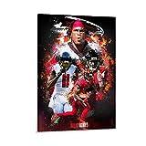 ZUNZUN Julio Jones Atlanta Falcon Leinwand Kunst Poster und