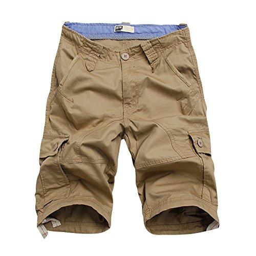 BicRad Herren Cargo Shorts Baumwolle Khaki 33