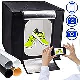 Tienda de Fotos | Mini Light Box Store | Pop Up Portable Light Cube Fotografía Shooting Kit para fotografía de pequeños artículos | Tienda de Productos Ligeros con LED Incorporado