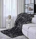 Black&White Throw Blanket for Sofa Couch Living Room,Super Soft Boho Modern Decorative Throw Blanket