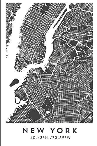 NEW YORK 40.43ºN /73.59ºW: Cuaderno de viaje. Diario, bullet journal, bujo, Diseñado...