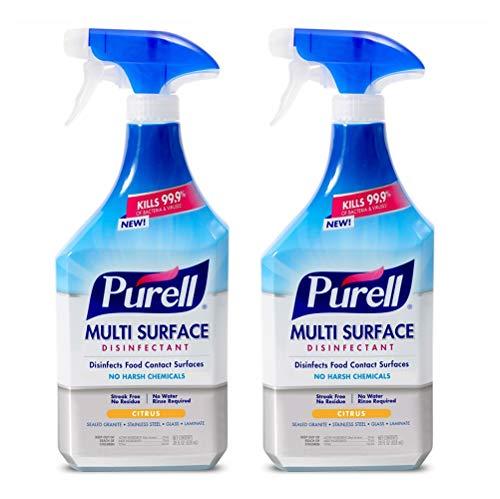 PURELL Multi Surface Disinfectant Spray, Citrus Fragrance, 28 fl oz Trigger Spray Bottle (Pack of 2) - 2844-02-ECCAL