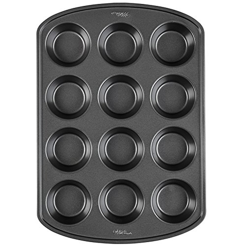Non-Stick Muffin and Cupcake Pan, 12-Cup, Silver