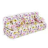 Mootea Puppenhaus Sofa, schöne Mini Puppenhaus Möbel Zubehör Stoff Sofa Couch Spielzeug Set für...