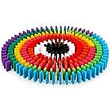 100 Unids Bloque de Domino de Madera Set Niños Edificio Educativo Temprano Juego de Diversión Domino Racing Toy Regalo de Cumpleaños para Niños Niños Niñas