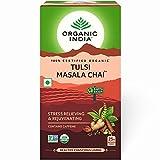 Organic India - Tulsi Masala Chai - Loose Tea Bags, USDA Certified Organic, Contains Caffeine - 25 Tea Bags / Pack of 3