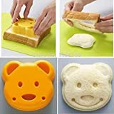 Bread Cutter - 1pcs Diy Bear Sandwich Mold Cartoon Toast Bread Stamp Cutter Kit - Tool Bread Cutter ...