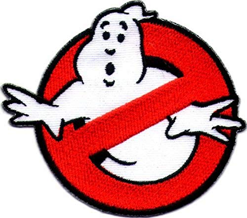 Lucky Patches, Aufnäher, Applikation, Aufbügler, Iron on Patch - Ghostbuster, Geisterjäger, The Real Ghostbusters - Ø 7,5 cm