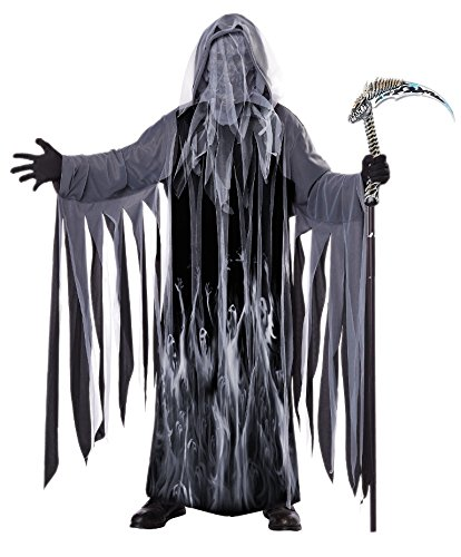 California Costumes Men's Soul Taker Scary Ghost Demon Skeleton Grim Reap, Black, Small/Medium