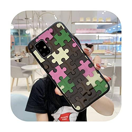 Moda colorido Puzzle teléfono caso para Huawei Mate 9 10 20x 30 40 Lite Pro TPU Cover-a9-Huawei mate 30