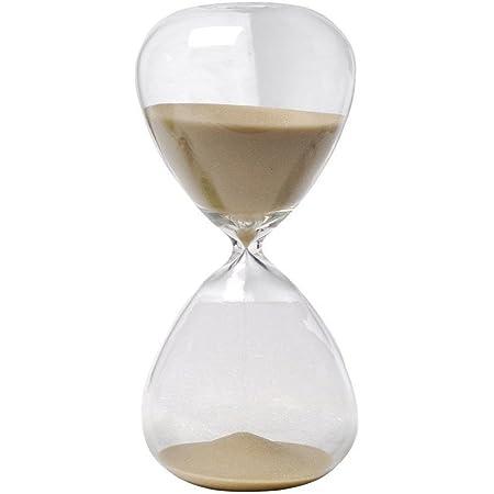Winterworm– Clessidra con sabbia di vari colori, in vetro, grande, per la decorazione della casa.  60 Minutes marrone