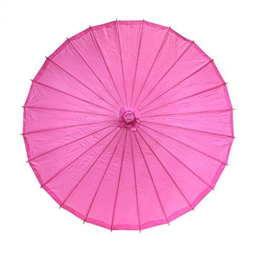 Josep. H chinois japonais Huile papier bâton de parasol Parapluie 1pièce (Vert) rose vif
