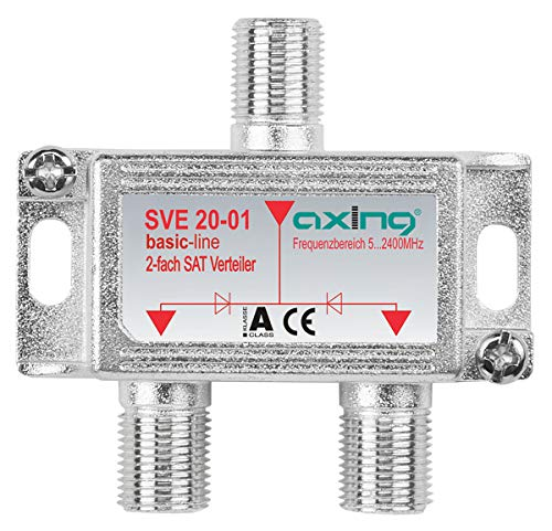 Axing SVE 20-01 2-Fach SAT-Verteiler Splitter mit...