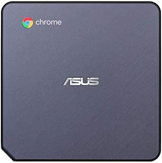 ASUS CHROMEBOX 3-N017U Mini PC with Intel Celeron, 4K UHD Graphics and Power Over Type C Port, Star Gray