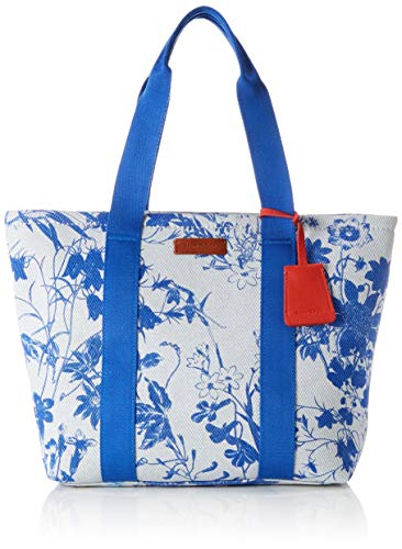 Marc O'Polo Damen Salina Umhängetasche, Blau (Calico Blue), 18x33x48 cm