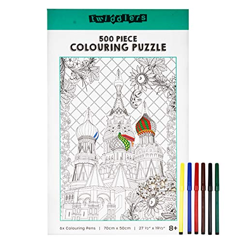 500 Piece Architecture Jigsaw Puzzle to Build & Colour In,...