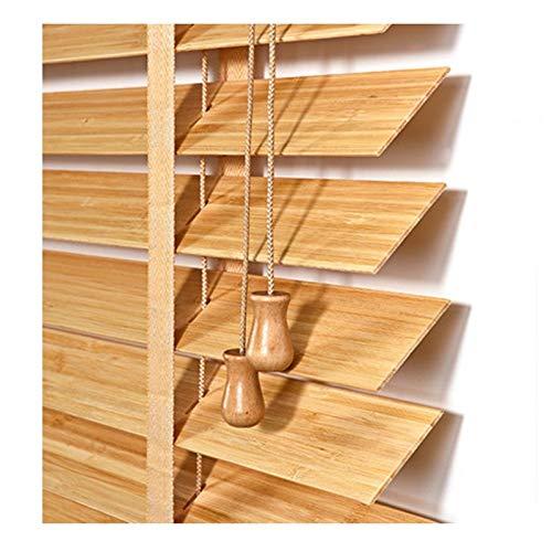YJFENG-Persianas venecianas Verticales, Cortina De Listones De Bambú De 30 Mm, Tasa De Sombreado Ajustable, 100% Impermeable Resistente Al Viento para Balcón Ventana De Bahia