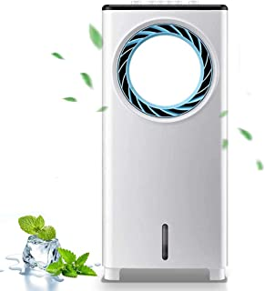 Qianduoduo888 Climatizador Evaporativo,con Iones Súper Silenciosos del Radiador Silencioso Ventilador Sin Cuchillas Iones Negativos con Función Deshumidificadora Adecuada para La Cabecera