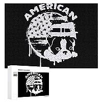 ボストンテリア ファスナー American Dog 300ピースジグソーパズル木製パズル 子供 グッズ 初心者向け ギフト 人気 減圧知育玩具大人 耐久性 高級印刷 無毒 無臭 無害 難易度調整可能 プレゼント