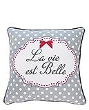 Krasilnikoff Cushion Cover, La Vie est Belle 50x50 cm [P] [W]