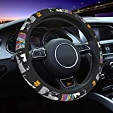Pomue The Ni-GHT-mare Before Christmas Car Steering Wheel Covers Cute Cover Accessories Protective Case Anti-Slip Neoprene Fit Most Sedan, SUV