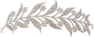LUCKYYY Diadema della Corona della Sposa La Sposa Lascia Gli Accessori di Nozze
