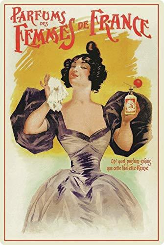 Generisch metalen bord 20x30cm reclame affiche parfum van de Femmes de France metalen bord