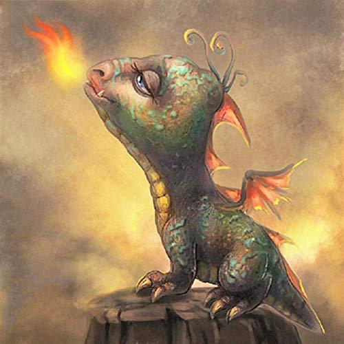 LZQZJD Rompecabezas para Adultos 6000 Rompecabezas Clásico Pequeños Dinosaurios Que Escupen Fuego Juego De Rompecabezas Relajante Rompecabezas
