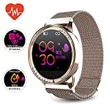 Smart Watch,Womens Android Diamond Smart Watch,Fitness Tracker, Compatible with iOS, Android Phones, Sports Activity Tracker with Sleep/Heart Rate Monitor/Physical Prediction