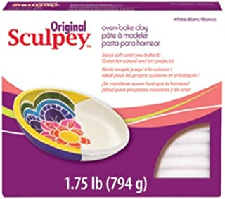 Polyform Original SCULPEY - 1.75lb - Block White Polymer Clay Accessory