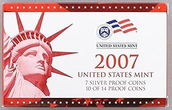 2007 S U.S. Mint 14-coin Silver Proof Set - OGP box & COA Proof