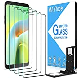 MAYtobe [4 Pack] Tempered Glass For LG Stylo 4, LG Stylus 4 Screen Protector with Easy Installation Tray, anti Scratch, Bubble Free, 2.5D Edge, 9H Hardness