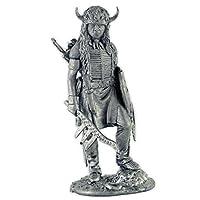 米国。19世紀のスー戦争。金属の彫刻。コレクション54mm(1/32スケール)ミニチュアフィギュア。ブリキおもちゃの兵隊。
