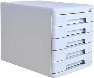 Armoires de Bureau avec Serrure 5 Couches Boîte de Rangement de Bureau en Plastique (Couleur : Gray)