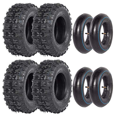 ZXTDR Set of Four 4.10-6 Front and 13x5.00-6 Rear Go Kart ATV Tire and Inner Tube Scooter Quad Bikes 4 Wheelers