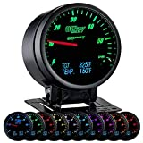 GlowShift 3in1 Analog 60 PSI Boost Gauge Kit with Digital 2200 F Pyrometer Exhaust Gas Tem...