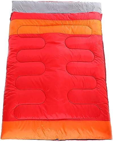 GOFEI Coton 2 en 1 Sac de Couchage - Double Sac de Couchage imperméable pour Camping, Tente ou Matelas de Sol (Adultes ou Adolescents)