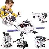 BOZTX 6 In 1 Solar Robot Kit STEM Toy Educational Science Kits Space Fleet Building Kits for Kids...