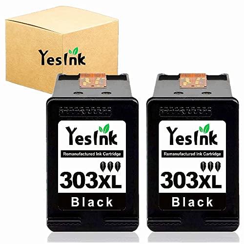 303 XL Cartouche d'encre compatible avec HP 303 Cartouche 303 HP 303 Noir 303 XL pour HP Tango Tango X Envy Photo 6220 6230 6232 6234 7130 7134 7830 (2 Noir)
