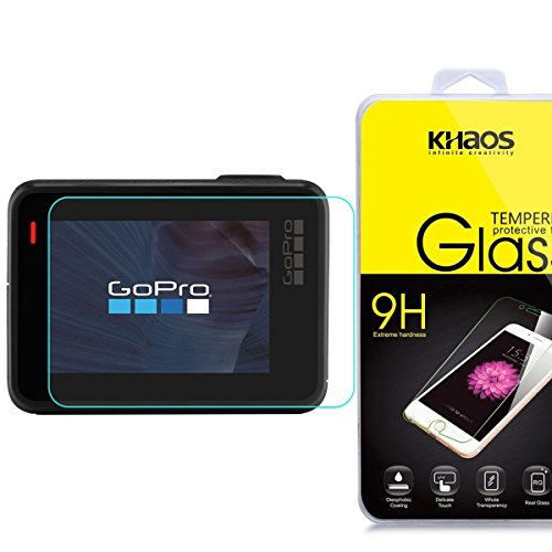 Khaos for GOPRO HERO5 HD Clear Tempered Glass Screen Protector with Lifetime Replacement Warranty