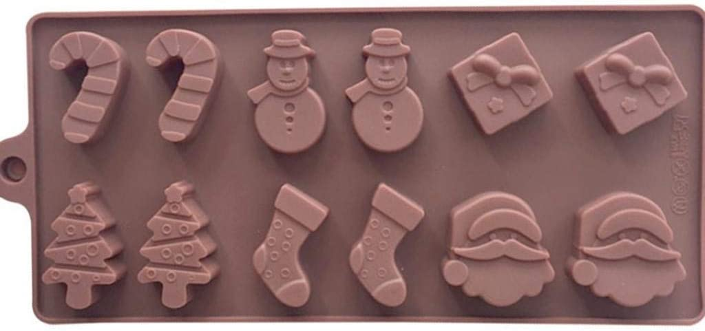 RYGHEWE New Orleans Mall Muffin At the price of surprise Pan Silicone Brownie Tree Santa Mold Christmas 3D