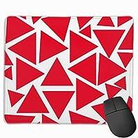 """モダンな赤と白の三角形 マウスパッド ゲーミング オフィス高級感 おしゃれ 防水 耐久性が良い 滑り止めゴム底 ゲーミングなど適用 マウスの精密度を上がる9.8""""x 11.8"""""""